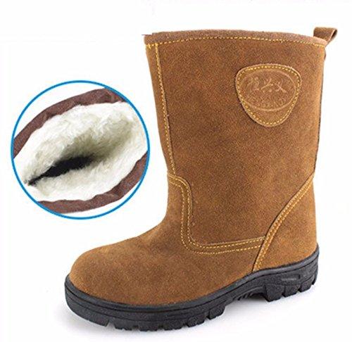 gli uomini 'inverno freddo prova calda pelle martin stivali all'aperto.,45 single stivali 46 cashmere