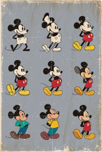 Mickey Mouse Evolution Poster - 91.5 x 61cms (36 x 24 Inches)