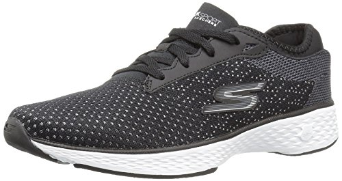 Skechers Go Walk Sport Womens Chaussure - AW17 Black / White