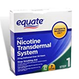Equate - Step One, Nicotine Transdermal System, Stop Smoking Aid, 21 mg, 7 Patches