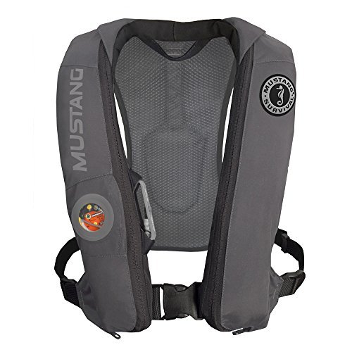 1 - Mustang Elite Inflatable Automatic PFD - Gray by Mustang Survival