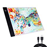 USB Power A4 LED Light Box Tracer, LANREN Adjustable LED Light Tablet Board Pad for 5D Diamond Painting Artists Drawing Sketching Animation Stenciling X-ray Viewing