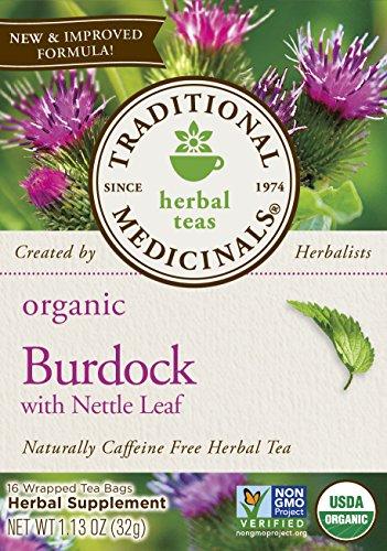 Traditional Medicinals Organic Burdock with Nettle Leaf Tea, 16 Tea Bags