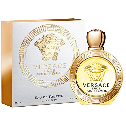 Versace Eros Pour Femme For Women Eau de Toilette Spray [ 3.4 FL.OZ.] ()