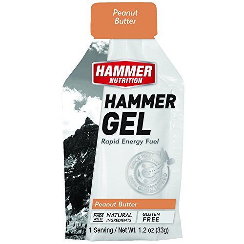 Hammer Gel Rapid Energy Fuel, Single Gel Pouch, 12-Pack, Peanut Butter
