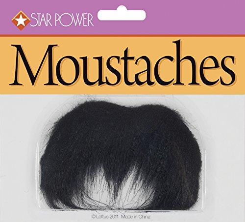 Loftus International Star Power Bushy Long Gunslinger Moustache, Black, One Size -