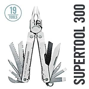 LEATHERMAN - Super Tool 300 Multitool, Stainless Steel with Leather Sheath