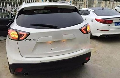 GOWE Car Styling for Mazda CX-5 2011-2015 Tail Lights LED Tail Light Rear Lamp LED DRL+Brake+Park+Signal Stop Lamp Color Temperature:8000K;Wattage:35K 2