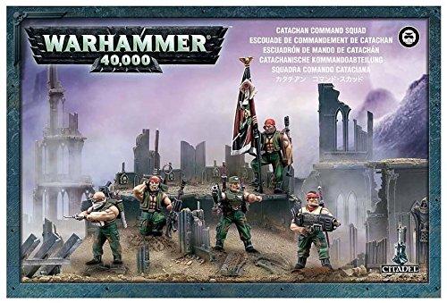 Warhammer 40k Astra Militarum Catachan Command Squad by Warhammer