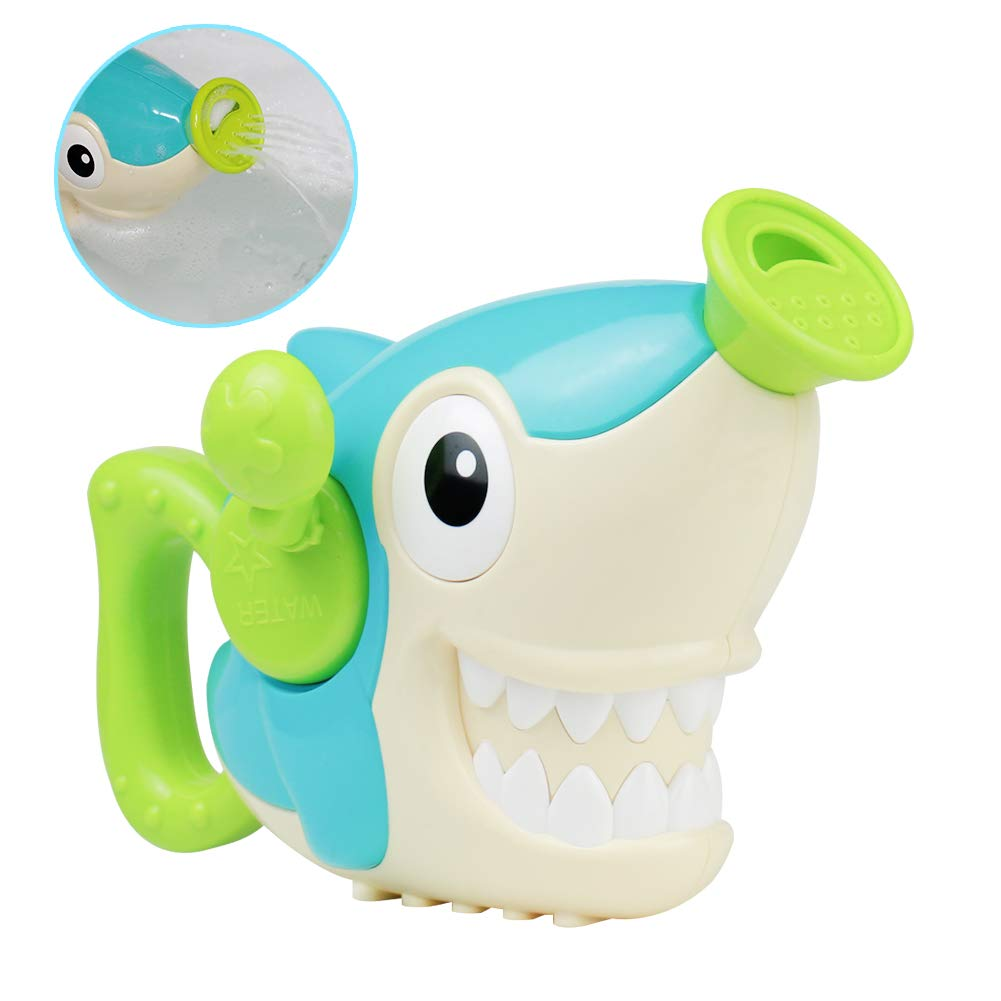 Fajiabao Bathtub Toys Bath Shark Toy Tub Spray Water Sprinkler Game Funny Gift for Toddlers Kids Child Baby Boys and Girls