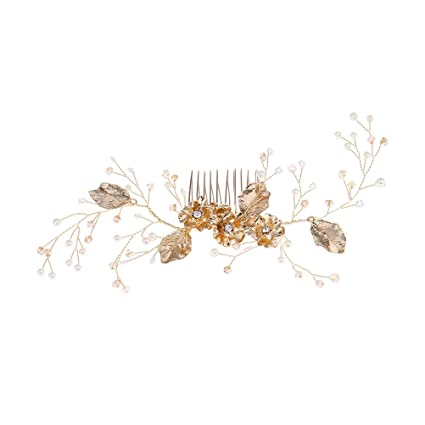 Frcolor Perlas nupciales de la boda Peine del pelo Diamante Rhinestone  Pinzas para el cabello Accesorios e64c83863864