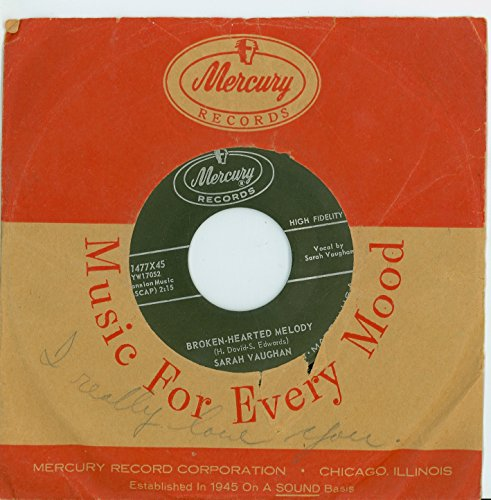 Broken-Hearted Melody | Misty - Sarah Vaughan (Mercury Records 1959) 1050 (5 out of 10) - Vintage 45 RPM Vinyl Record