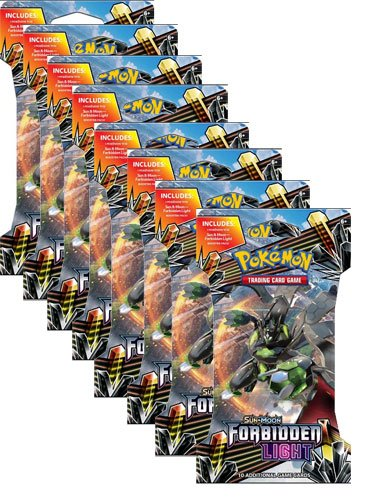 (8) x Pokemon Forbidden Light Factory Sealed Sleeved New Booster Packs!
