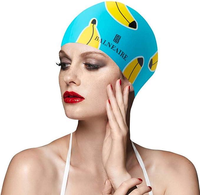 Thick or Short Average//Large Heads,Anti-Tear,Anti-shedding Benrise Swimming Cap for Women//Men Silicone swim hat for Long Hair Swimming Cap+Quick-drying towel+Earplugs