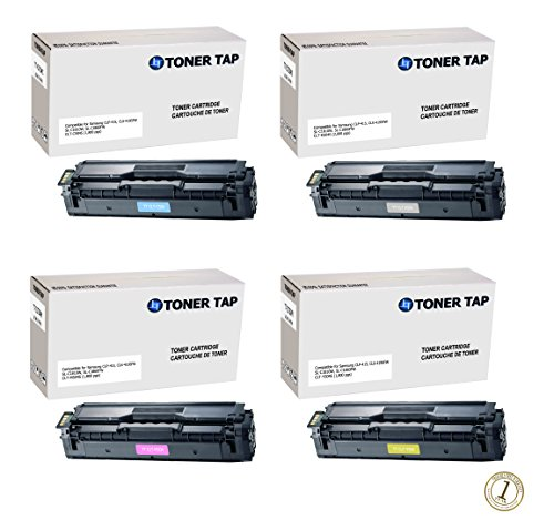 Toner Tap Compatible Toner Set for Use In Samsung CLP-415N, CLP-415NW, CLX-4195FW, SL-C1810W, and SL-C1860FW Printers, For Samsung CLT 504 (CLT-K504S/ CLT-C504S/ CLT-M504S/ CLT-Y504S)