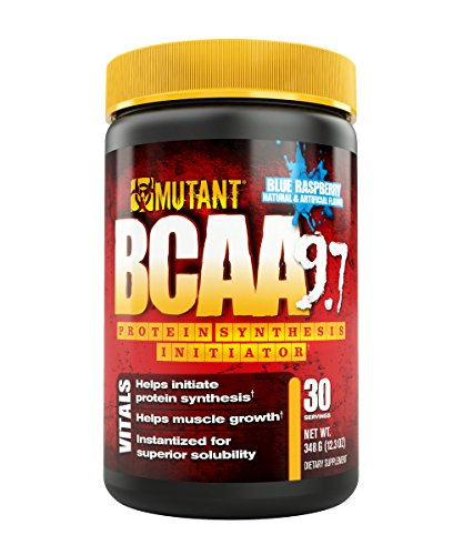 MUTANT BCAA Powder 9.7, Branched Chain Amino Acids with L-Arginine & Electrolytes for Muscle Building and Nitric Oxide Enhancement, Blue Raspberry, 30 Servings