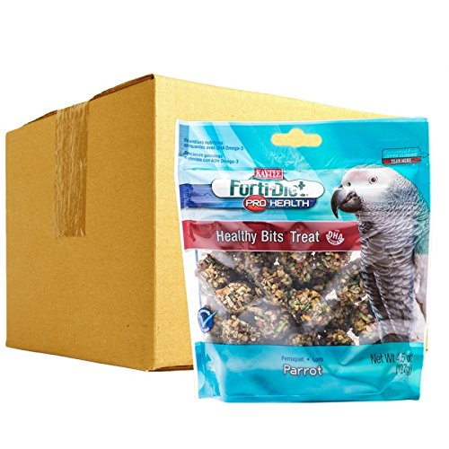 Kaytee Forti Diet Pro Health Healthy Bits Treats for Parrots & Macaws - BULK - 27 oz - (6 x 4.5 oz) (Diet Macaw)