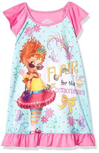 Disney Girls' Big Fancy Nancy Nightgown, Blue Flair, 10 -