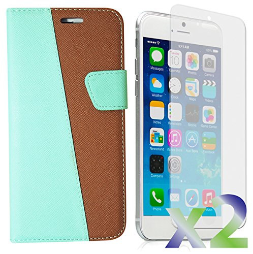 Exian Multifunctional Cell Phone Case for iPhone 6 - Retail Packaging - Green