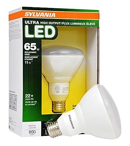 SYLVANIA 65W Equivalent Dimmable Soft White BR30 LED Flood Light Bulb (Sylvania 2700k Led)