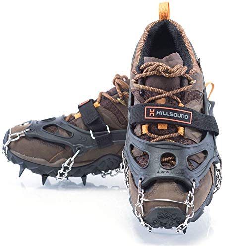 Hillsound Trail Crampons Traction Device, Black, X-Large