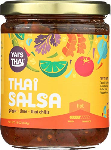 Yai's Thai Hot Thai Salsa 16 Ounce Jar ()