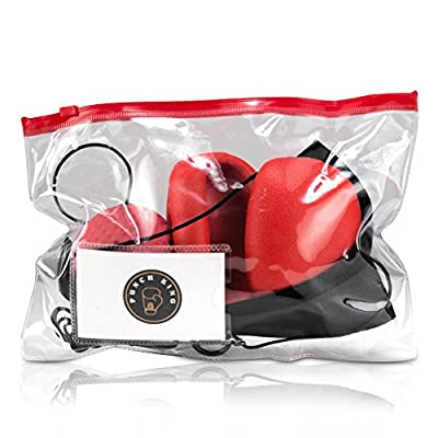 Boxing Reflex Ball - Adjustable Head Band, Gloves, Repair, Extra String, Instruction and Repair Guide Included - Perfect For Reflex/Speed Training Improve Reactions In Boxing and MMA - By Punch King