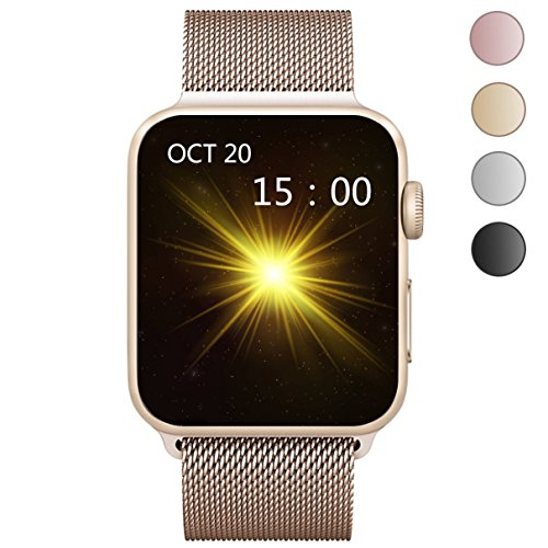 OROBAY Apple Watch Band 38mm 42mm, Stainless Steel Mesh Loop with Adjustable Magnetic Closure Replacement iWatch Band for Apple Watch Series 2 Series 1