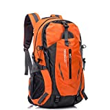 UBORSE Hiking Backpack 40L, Ultra Lightweight Waterproof Travel Daypack Trekking Bag for Outdoor Camping Travel Hiking and Mountaineering for Men and Women, Orange