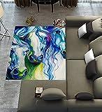 Custom Horse Art Area Rugs Carpet,Horse Art Modern Carpet Floor Rugs Mat for Home Living Dining Room Playroom Decoration Size 7'x5′ For Sale