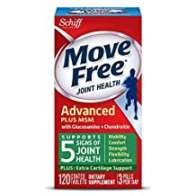 Move Free Joint Health, Glucosamine Chondroitin Advanced Plus Msm, Dietary Supplement, 1500 Mg, 120 Count (240 Tablets)