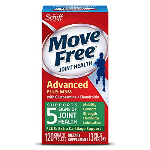 Move Free Advanced Plus MSM, 120 tablets - Joint Health Supplement with Glucosamine and Chondroitin (Pack of 5) by SCHIFF