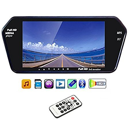 Accedre 7 Inch Rear View Mirror Screen With Bluetooth+USB+SD Card and touch panel