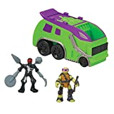 Teenage Mutant Ninja Turtles Micro Mutant Garbage Truck with 1.15'' Super Ninja Donatello and Robotic Foot Soldier Figures and Vehicle