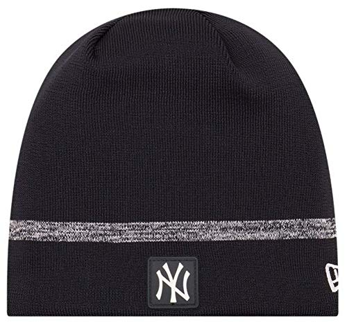 - New Era MLB New York Yankees Clubhouse Stocking Knit Hat Beanie Skull Cap Black