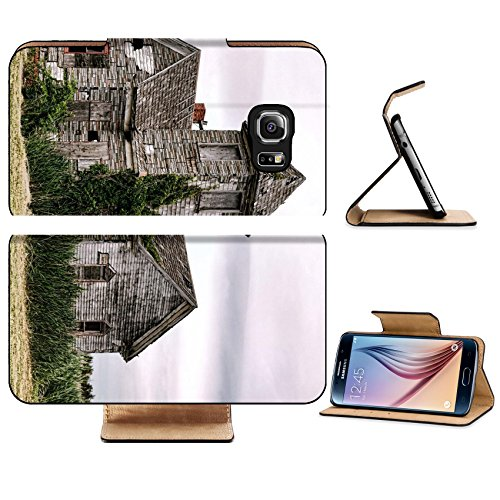 Liili Premium Samsung Galaxy S6 Edge Flip Pu Leather Wallet Case Abandoned old church hall building with blight vintage 29238661