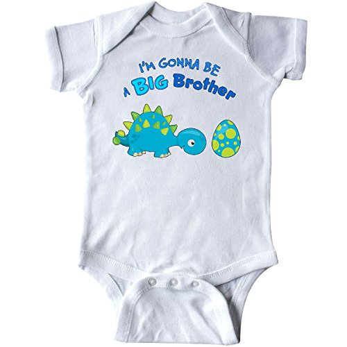 inktastic - Happy Dinosaur Future Big Infant Creeper 12 Months White 283cc ()