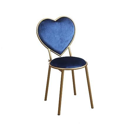 Charmant Creative Heart Shaped Chair, Iron Dining Chair Nail Shop Chairs Coffee Shop  Chair Leisure