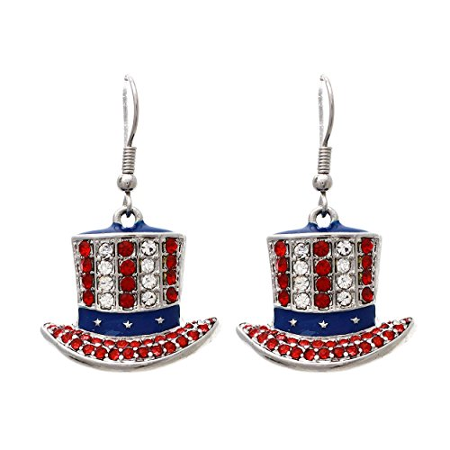 Uncle Sam Dangle Earrings