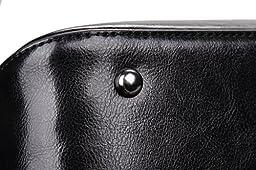 Heshe Womens Leather Shoulder Handbags Tote Bags Crossbody Bag Top Handle Handbag Satchel and Purse for Ladies Messenger Style (Black-r)