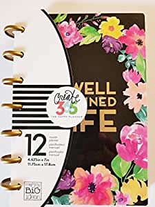 me & my BIG ideas Create 365 The 2017 Mini Happy Planner, Happy Blooms, 12 Month Planner, January 2017 - December 2017