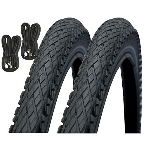 Impac Crosspac 700 x 38c Hybrid Bike Tyres with Presta Tubes (Pair)