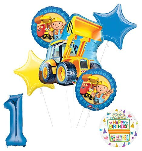 - Mayflower Products Bob The Builder Construction Party Supplies 1st Birthday Balloon Bouquet Decorations