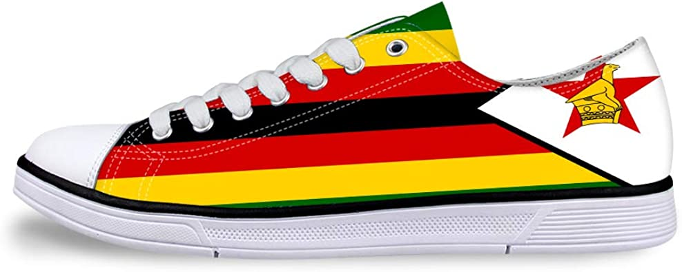 Owaheson Boys Girls Casual Lace-up Sneakers Running Shoes Zimbabwe Flag