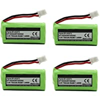 BT183342 BT162342 BT166342 BT262342 BT283342 BT266342 Replacement Battery Pack for Vtech Cordless Phone CS6114 CS6719 CS6124 CS6649 DS6151 AT&T CL4940 EL52300 Handset (4-Pack)