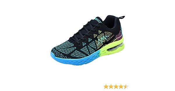 WWricotta LuckyGirls Zapatillas de Correr Hombre Mujer Geometría Casual Moda Cómodas Calzado para Deporte Zapatos para Andar con Cordones Bambas de Running Deportivas Zapatos de Gimnasia: Amazon.es: Deportes y aire libre