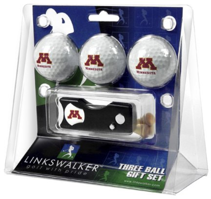 (Minnesota Golden Gophers 3 Golf Ball Gift Pack with Spring Action Tool)