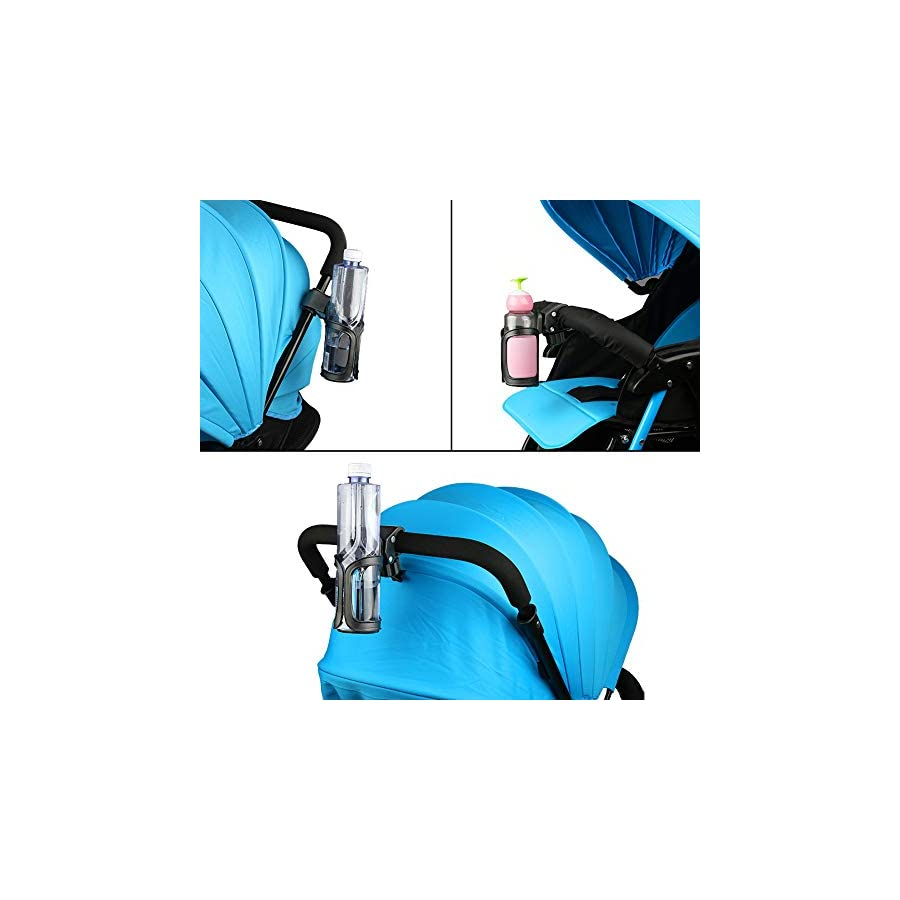 accmor Upgrade Edition Bike Cup Holder, Stroller Drink Holders, Universal 360 Degrees Rotation Cup Drink Holder for Baby Stroller/Pushchair, Bicycle, Wheelchair and Motorcycle,2 Pack