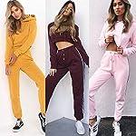 Loalirando-Completo-Sportivo-Donna-Tuta-da-Ginnastica-2-Pezzi-Felpa-con-Cappuccio-Corto-Pantaloni-a-Vita-Alta-Sportwear-per-Yoga-Corso-Palestra-Jogging-Fitness