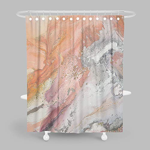 orange and grey shower curtain - 9